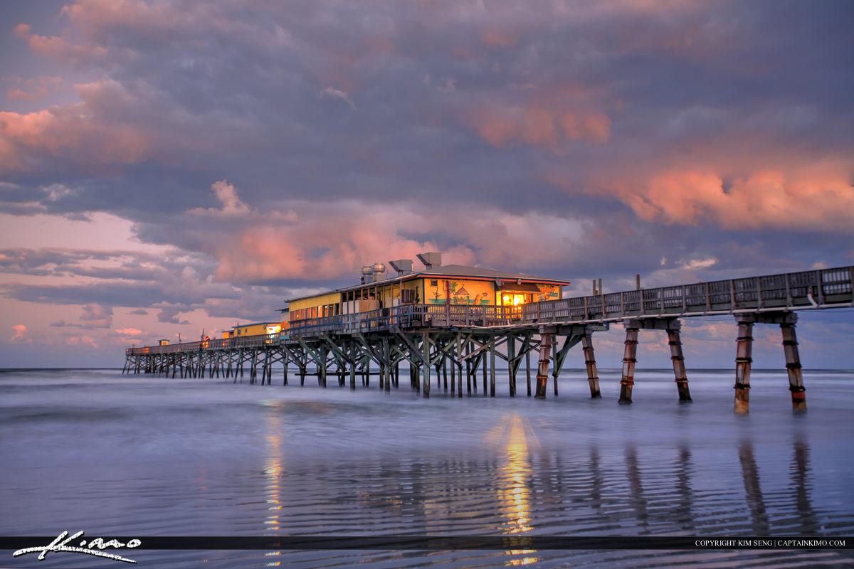 Daytona Beach Shores Crabby Joe's Deck & Grill Reflection off Sa