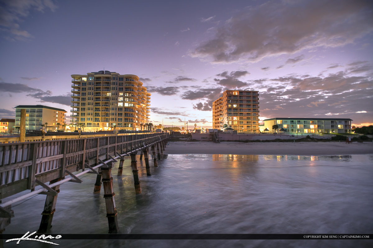 Daytona Beach Shores Crabby Joe's Deck & Grill Condos from Pier