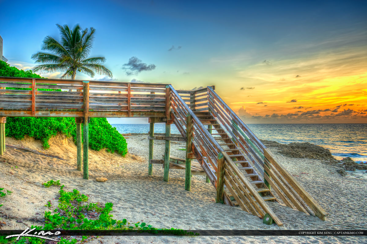 Colorful Sunrise at Bathtub Beach Stuart Florida