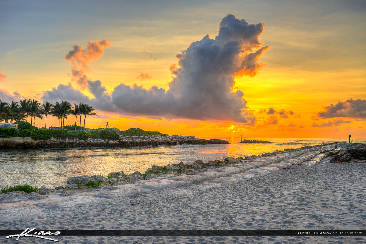 Boca Inlet Sunrise Boca Raton Beach Florida