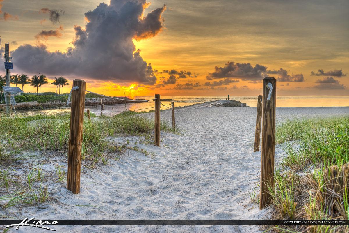 Boca Inlet Boca Raton Florida Beach Sunrise