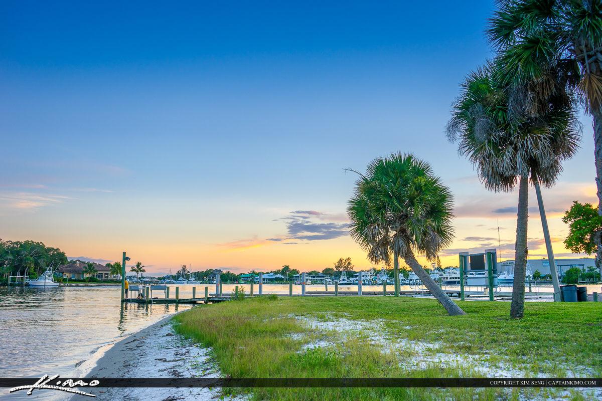 Boat Dock Sandsprit Park Port Salerno Florida Martin County