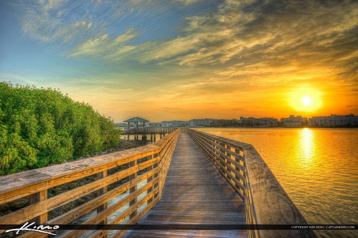 Boardwalk at Waterway Lake Worth Florida