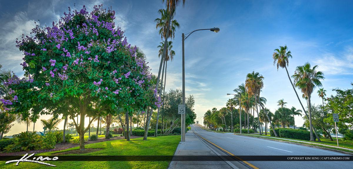 Beach Road at Bryant Park Lake Worth Florida