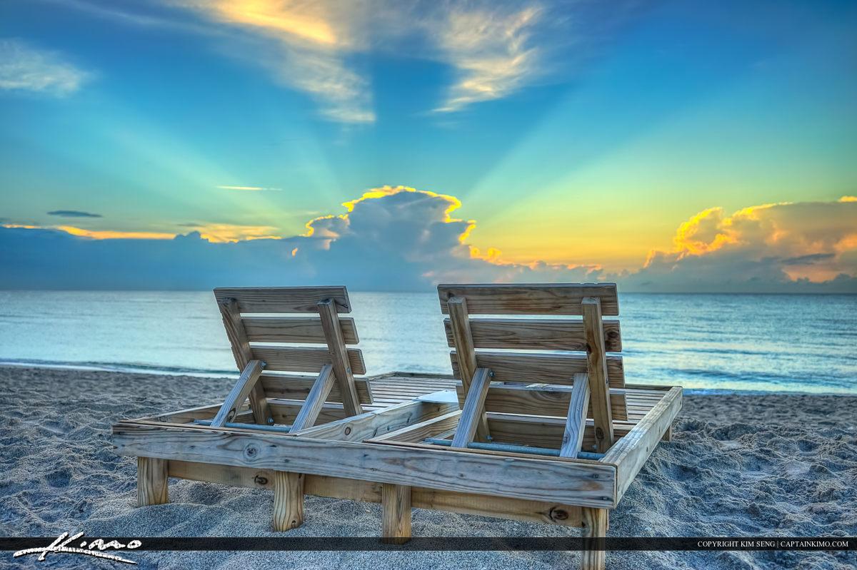 Beach Chair at the Lake Worth Casino