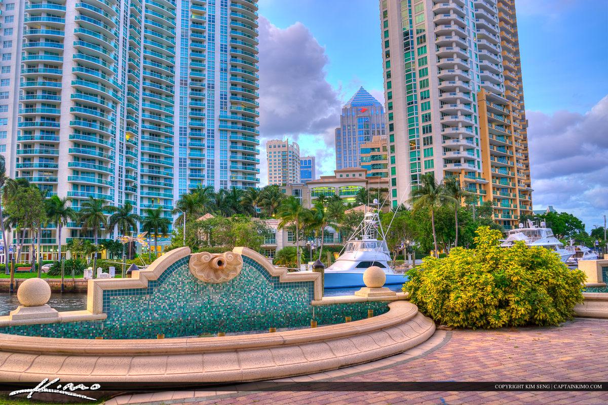 Riverwalk Water Fountain Fort Lauderdale Florida Broward Co
