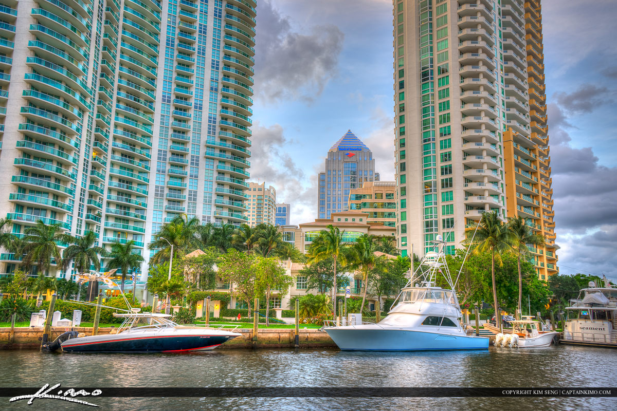 Yacht at New River Fort Lauderdale Florida Broward County