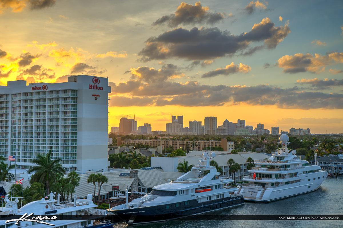 City Skyline Fort Lauderdale Florida Broward County
