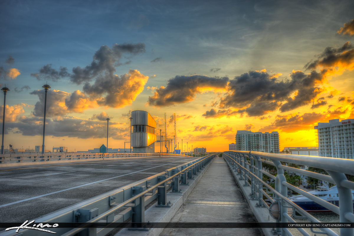Sunset Bridge at Top Fort Lauderdale Florida Broward County