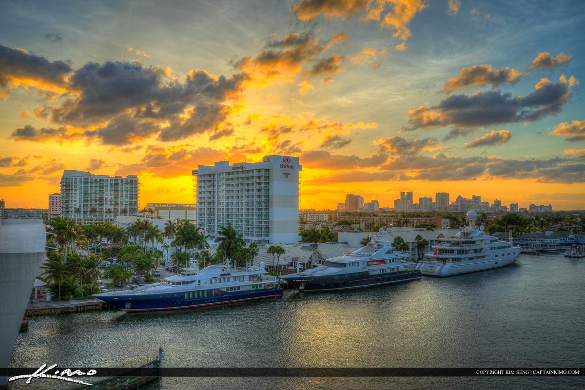 Sunset Bridge Fort Lauderdale Florida Broward County