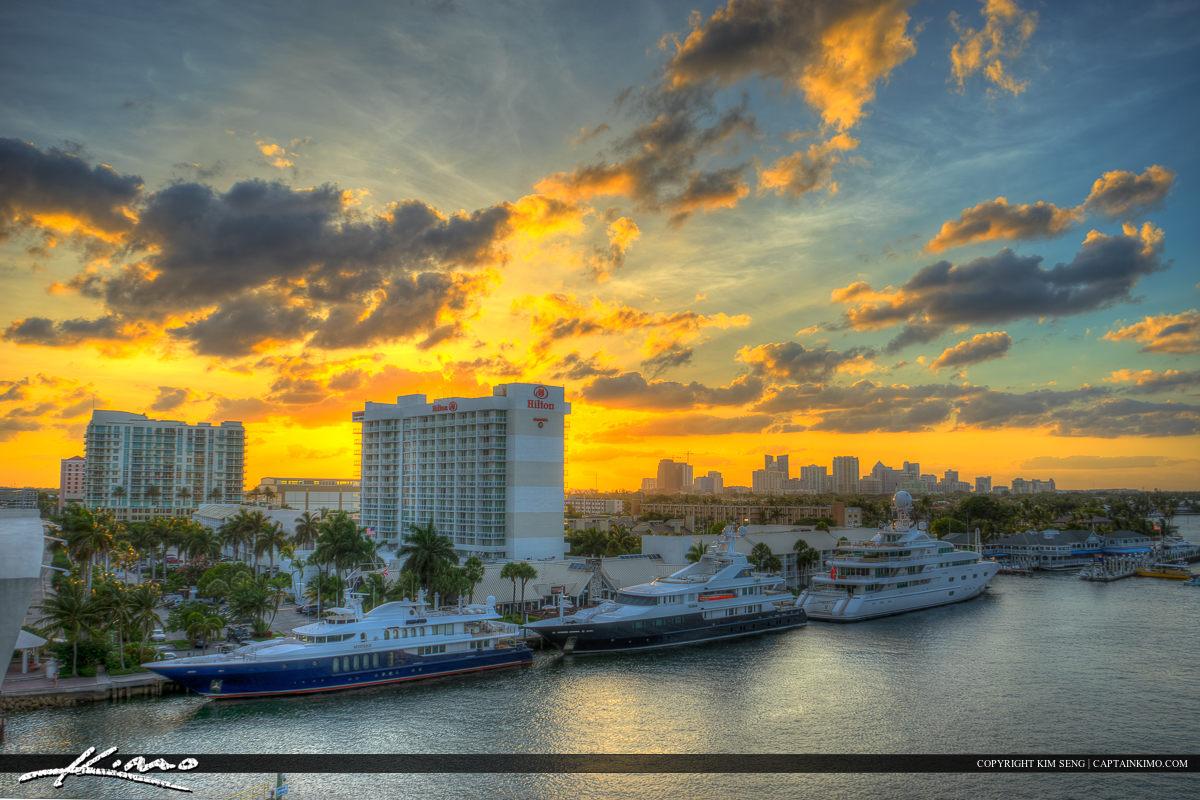 Yacht Skyline Fort Lauderdale Florida Broward County