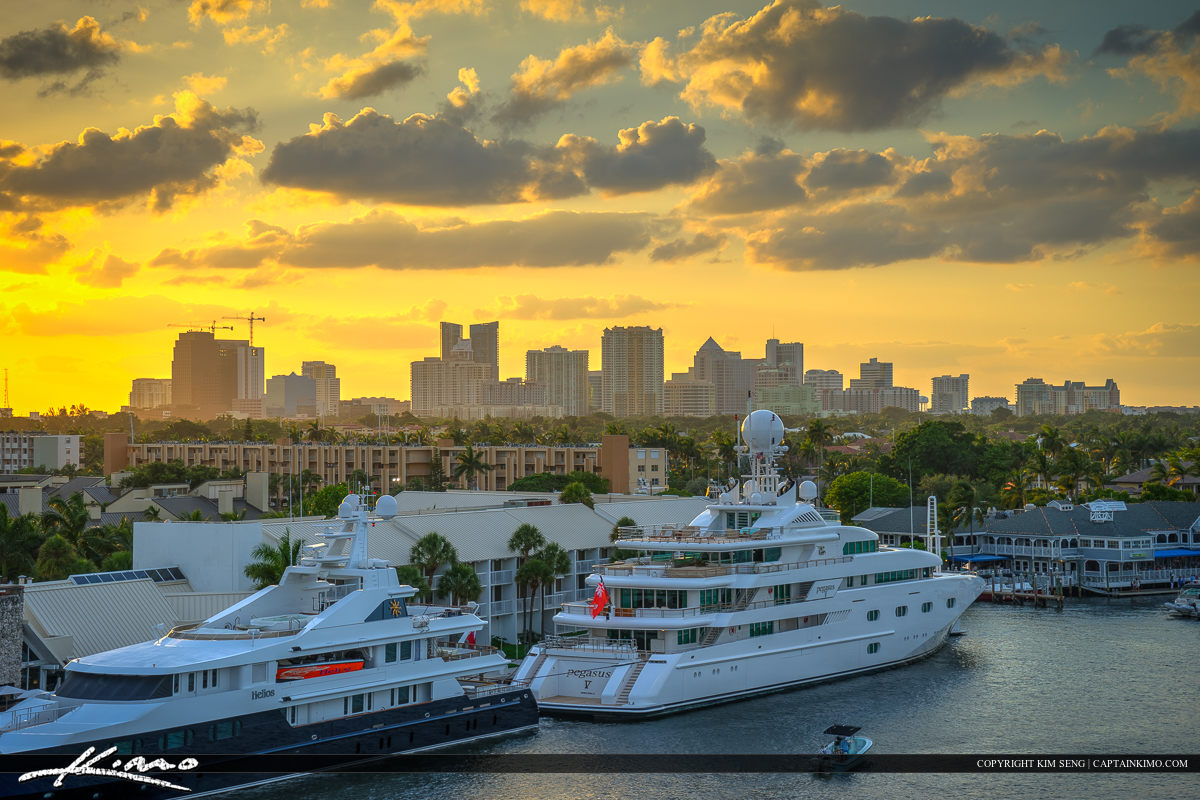 Skyline Yacht Fort Lauderdale Florida Broward County