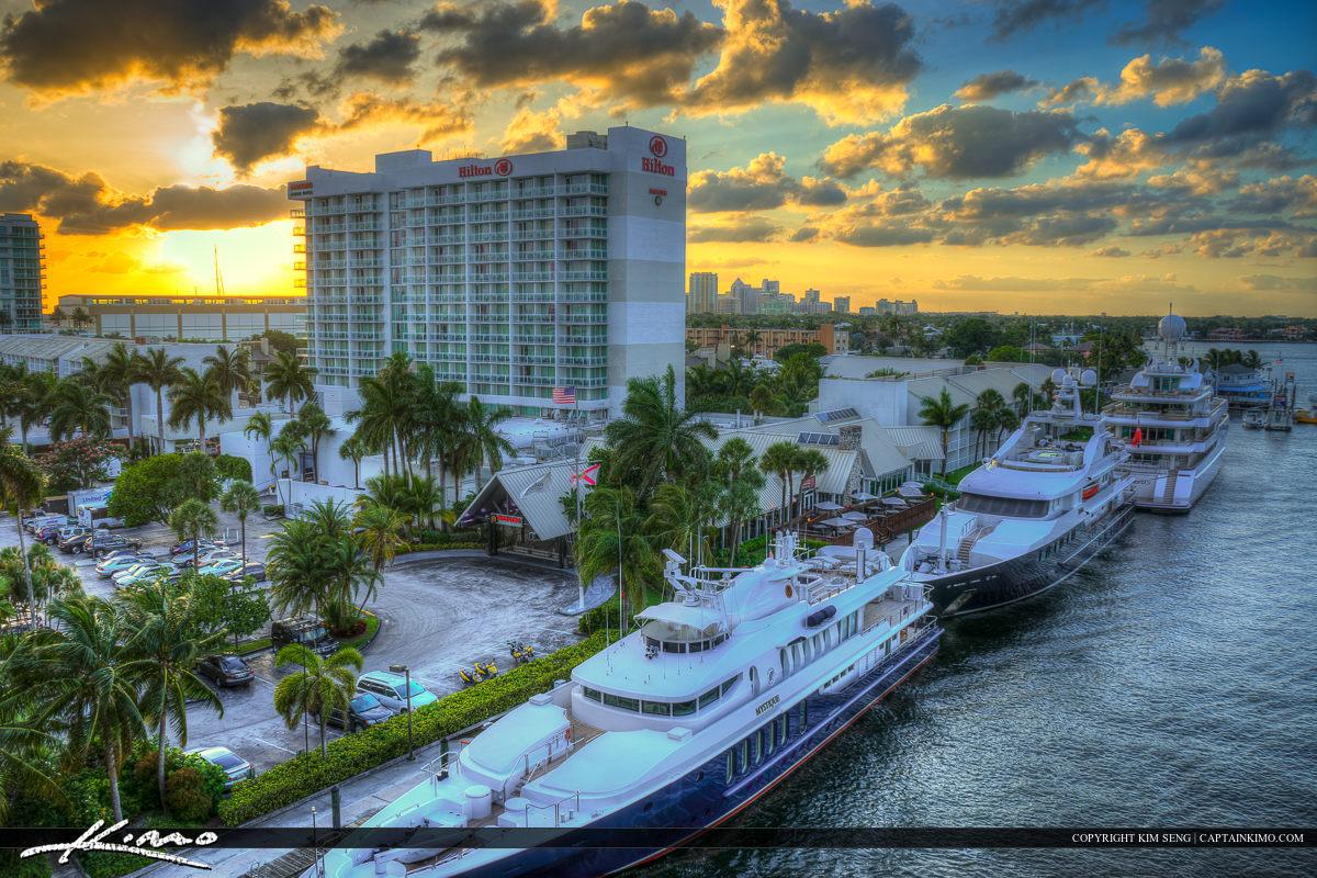 Hitlon at Dock Fort Lauderdale Florida Broward County