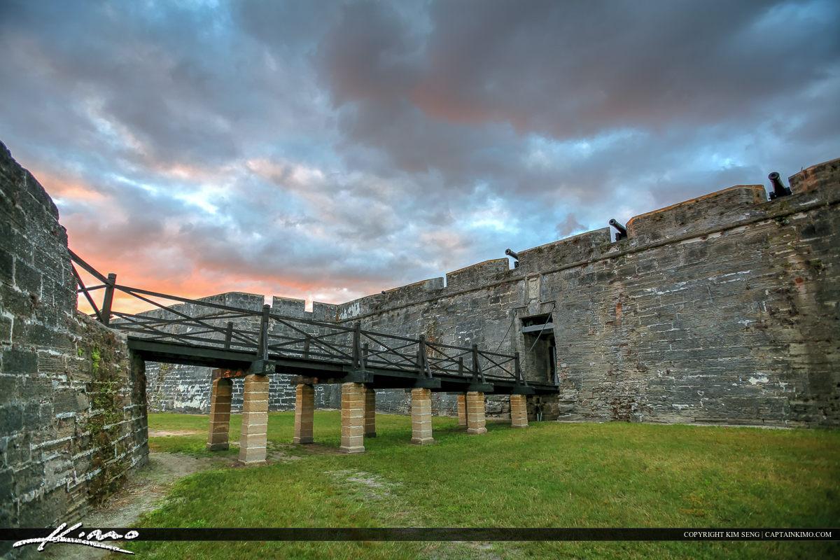 Bridge Wall Castillo de San Marcos Fort St. Augustine Flori