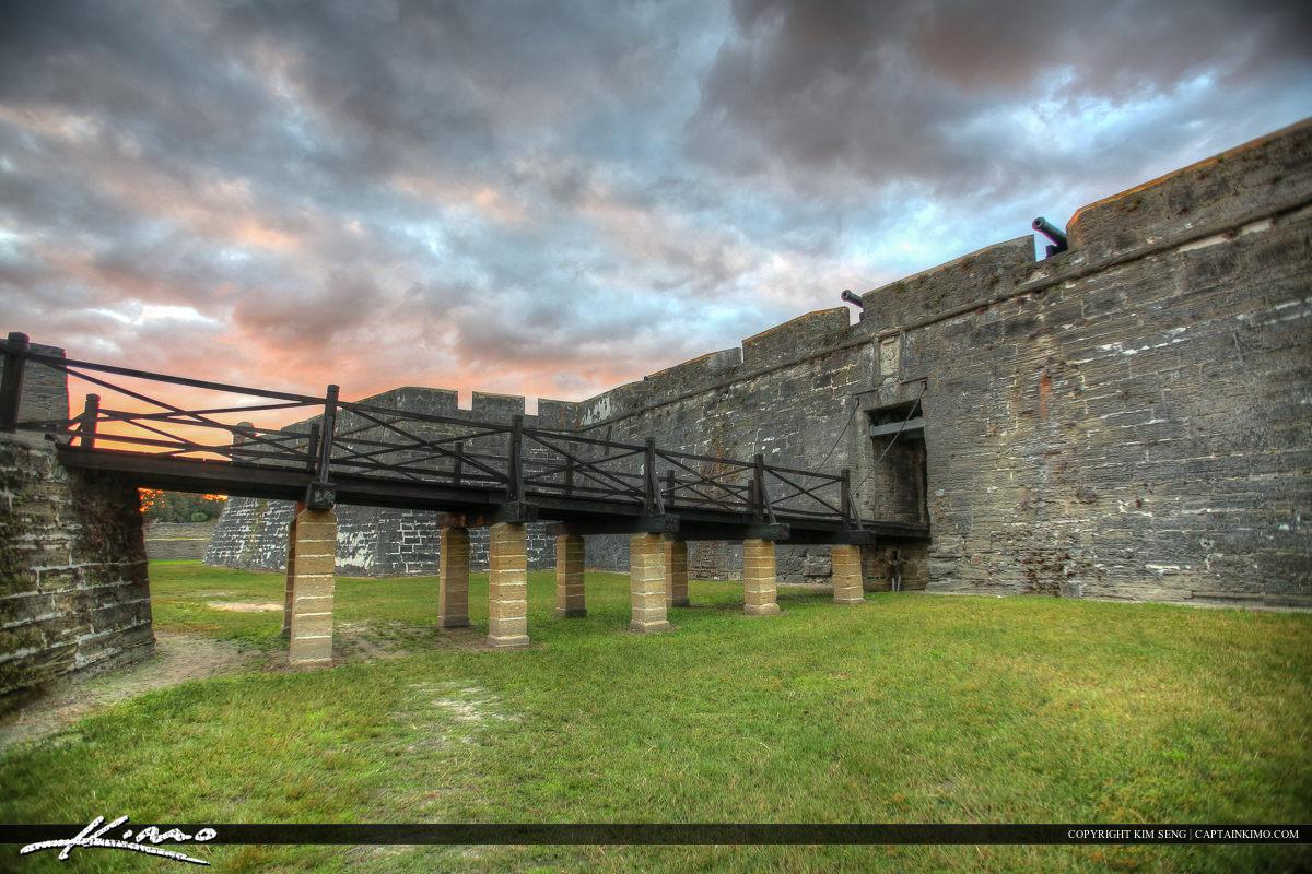Closer to Bridge Castillo de San Marcos Fort St. Augustine