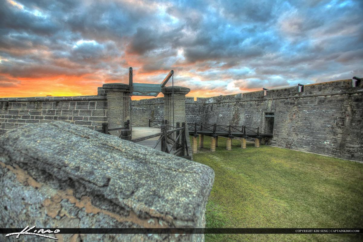 Sunset Glow Castillo de San Marcos Fort St. Augustine Flori