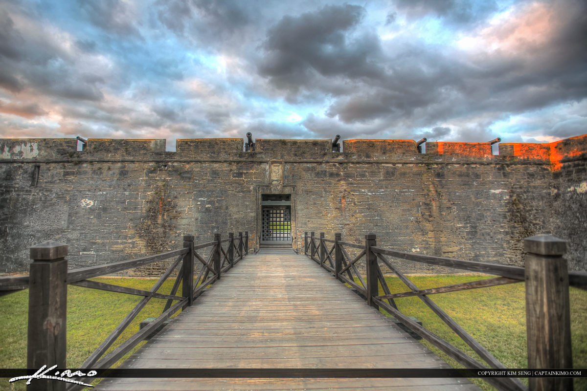 Front of Fort Castillo de San Marcos Fort St. Augustine Flo