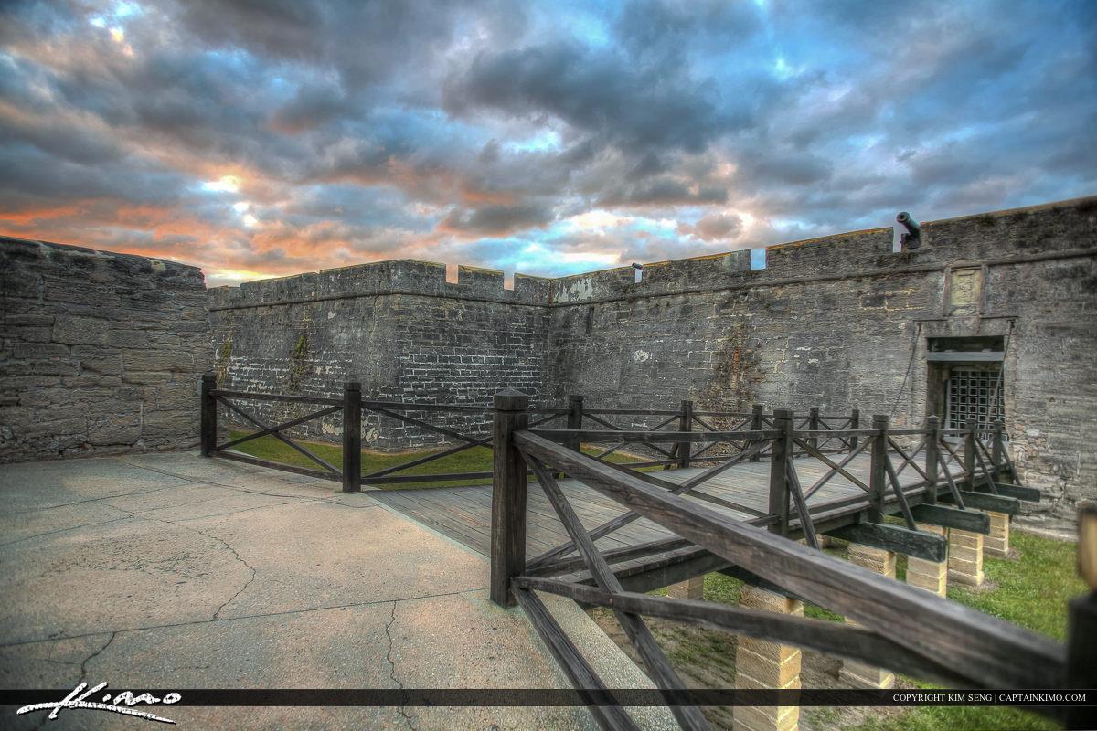 Entance Sunset Castillo de San Marcos Fort St. Augustine Fl