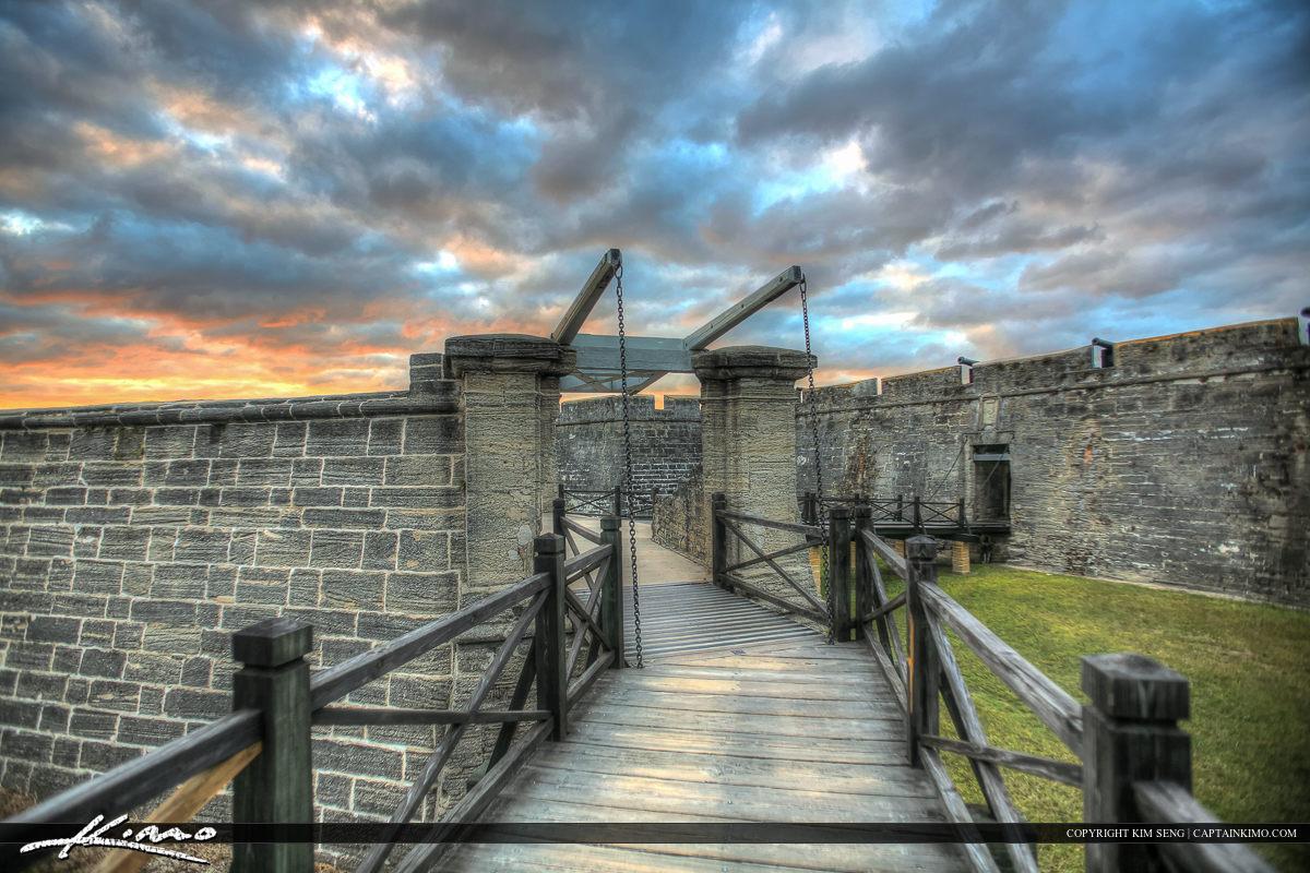 Bridge Sunset Castillo de San Marcos Fort St. Augustine Flo
