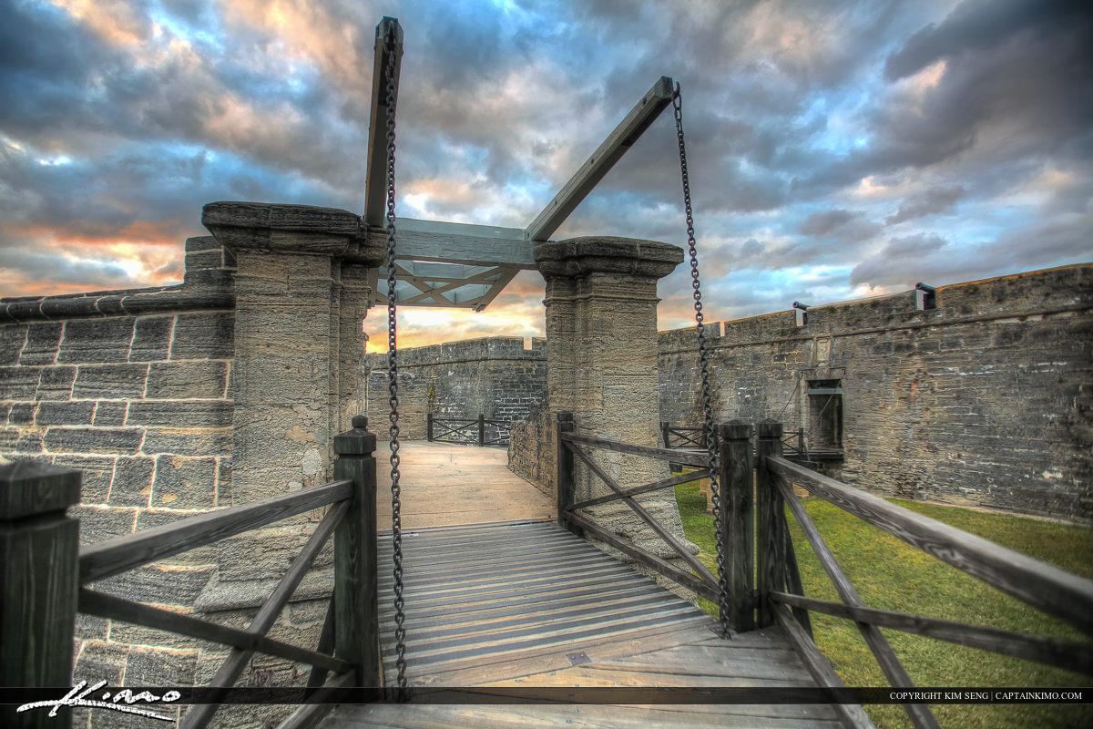Bridge Close up Castillo de San Marcos Fort St. Augustine F