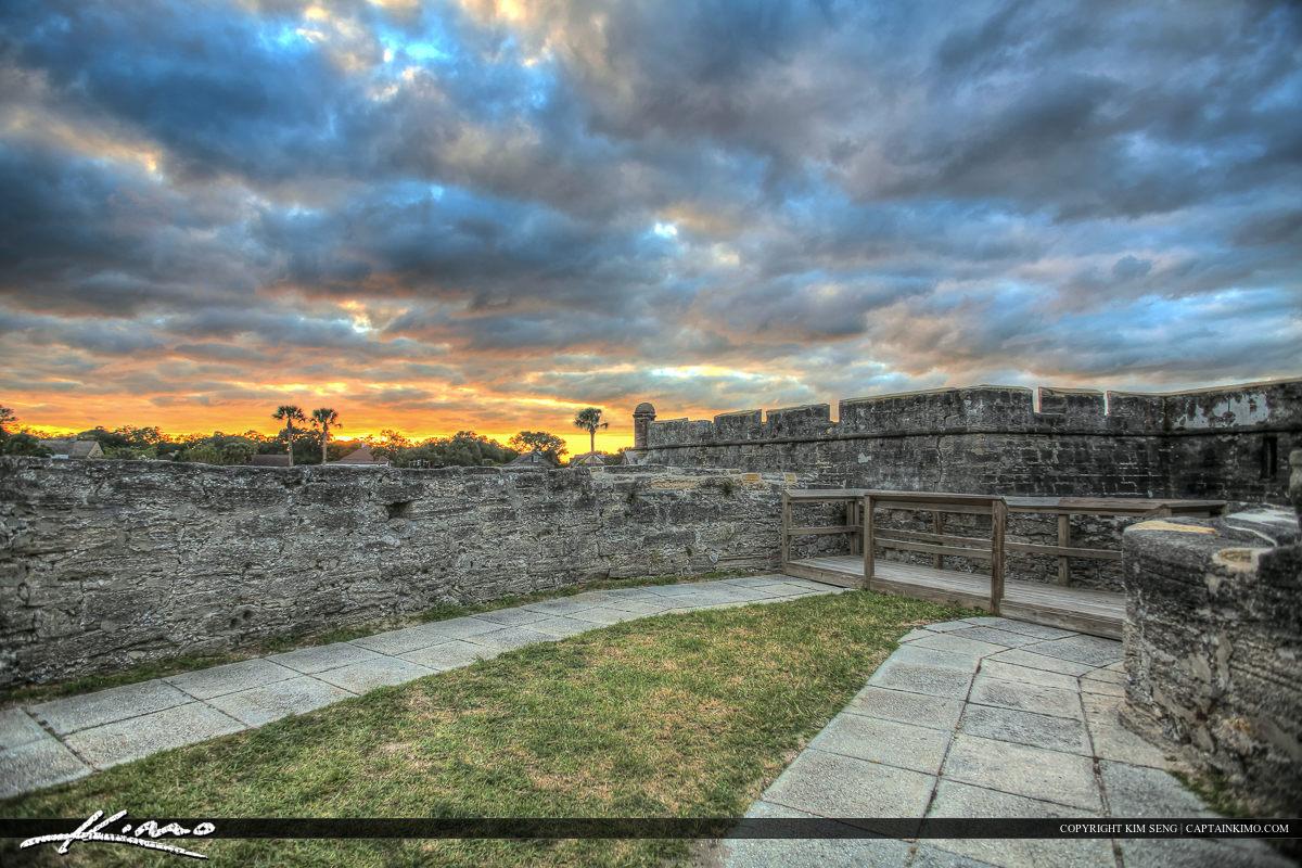 Sunset along Fort Castillo de San Marcos Fort St. Augustine