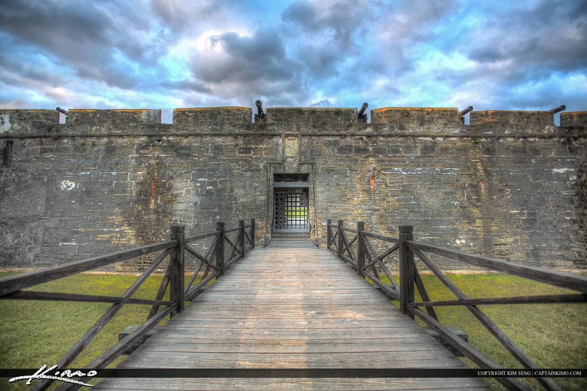 Bridge Wide Castillo de San Marcos Fort St. Augustine Flori