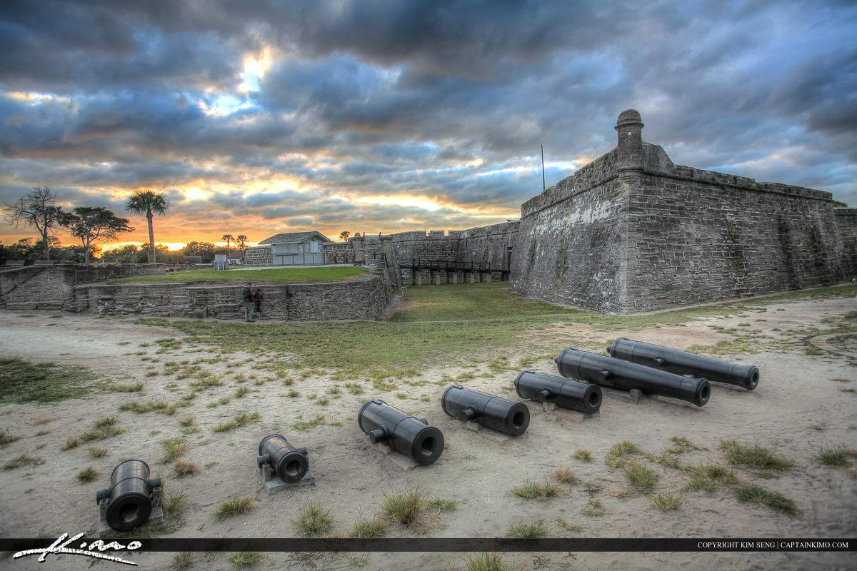 Cannon Sunset Castillo de San Marcos Fort St. Augustine Flo
