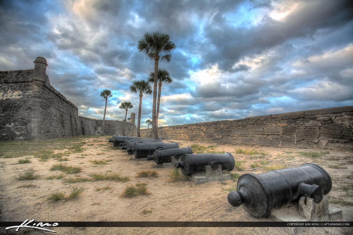 Cannons Castillo de San Marcos Fort St. Augustine Florida S