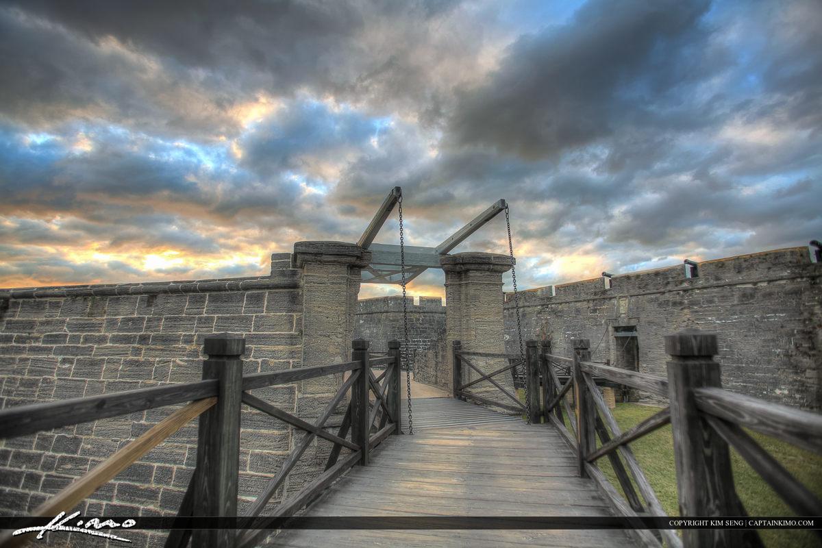 Bridge at Entrance Castillo de San Marcos Fort St. Augustin