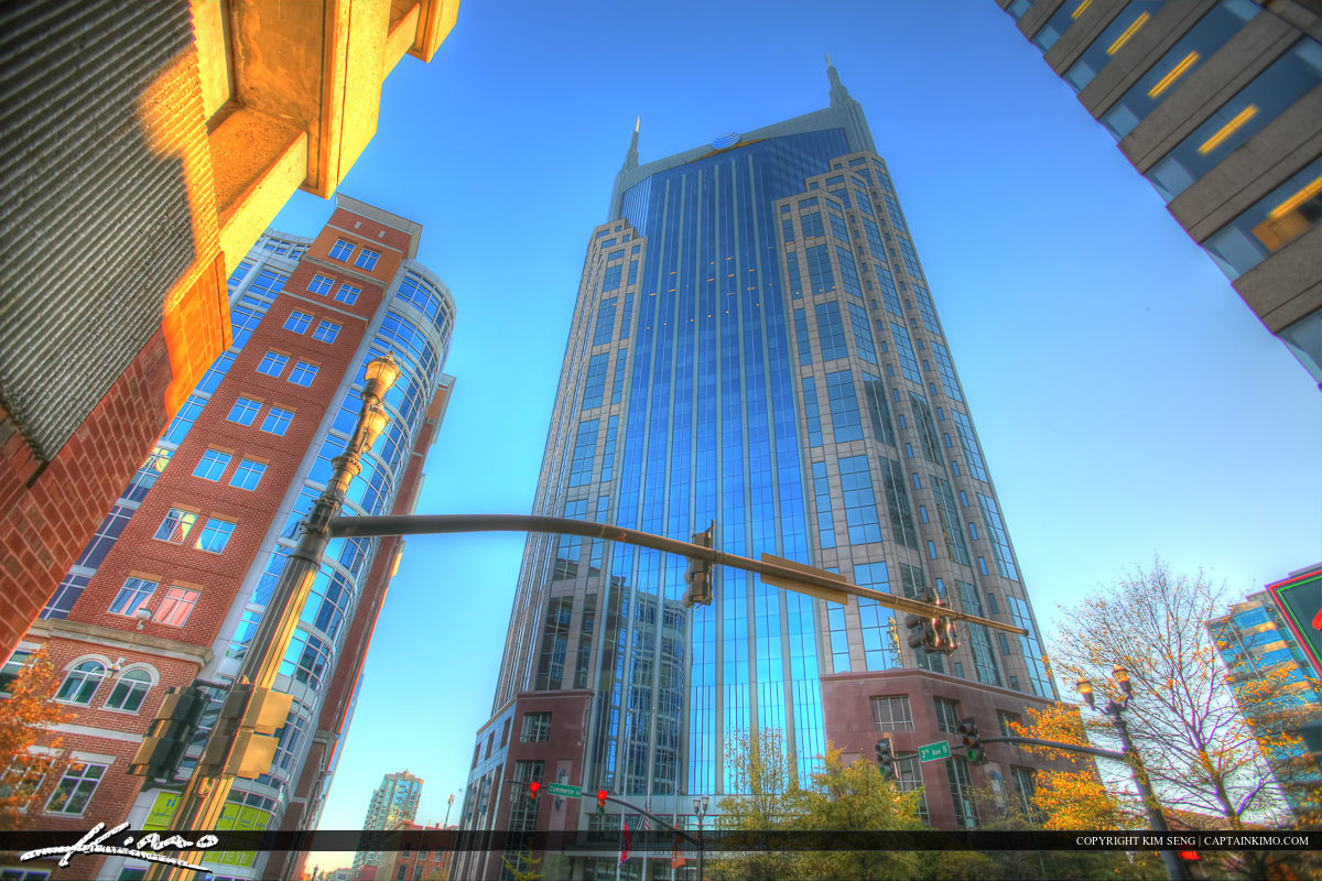 Nashville Tennessee City Downtown AT&T Building