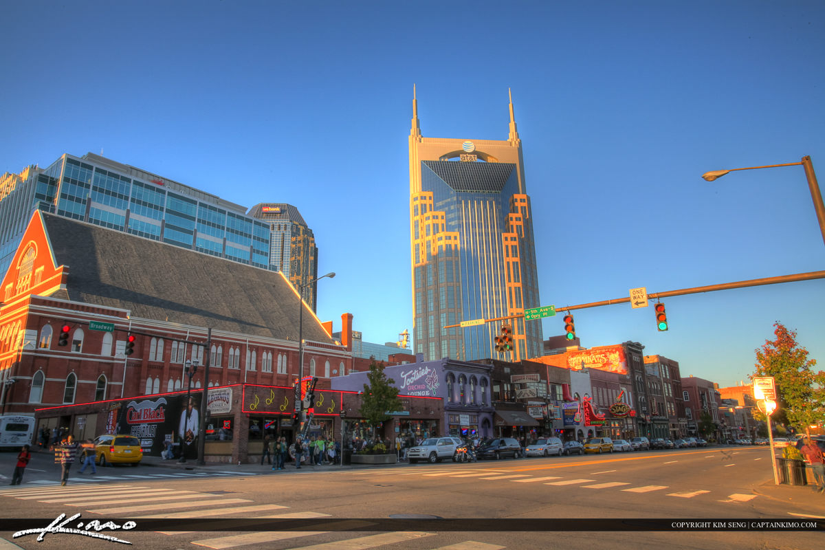 Nashville Tennessee City Downtown Music Row AT&T Building