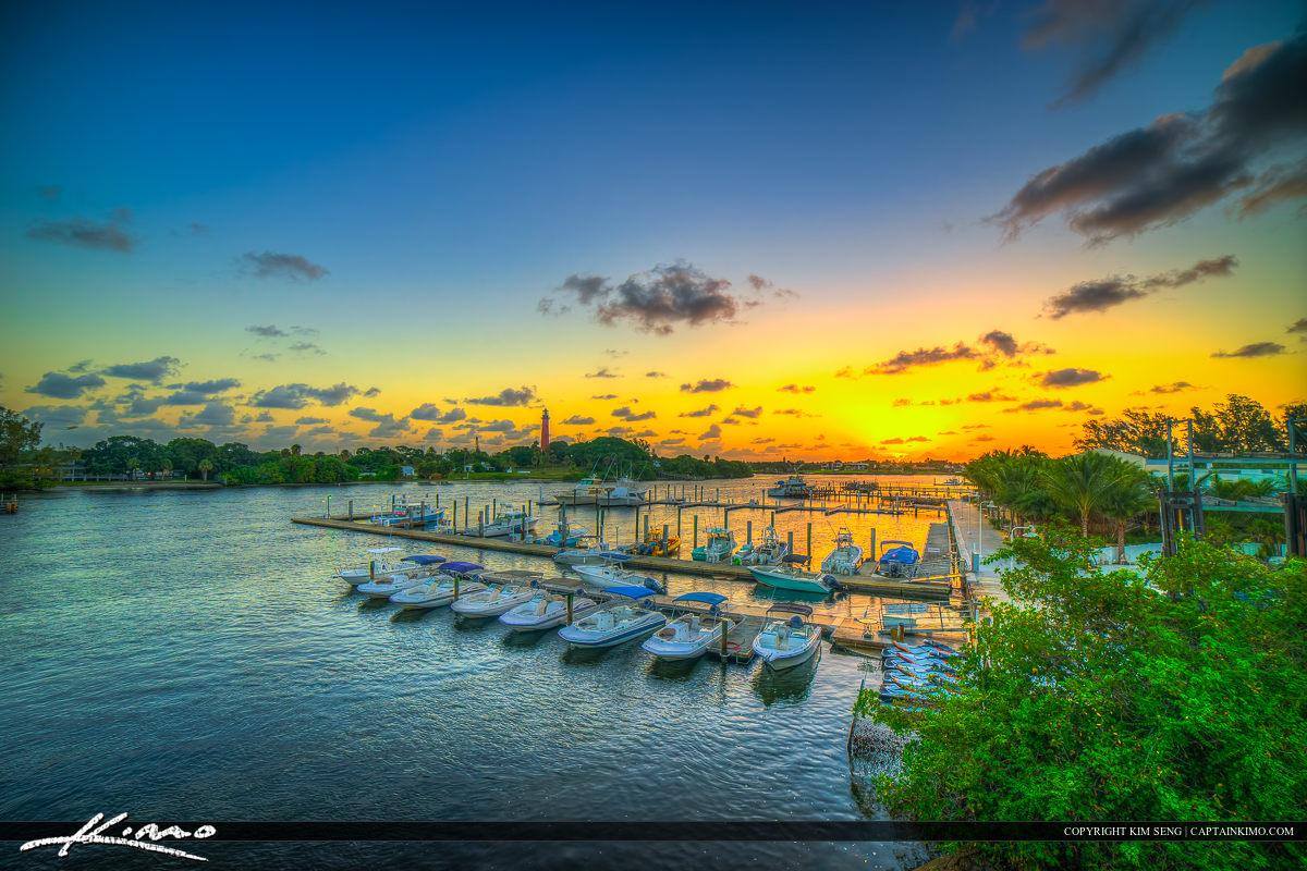 Palm Beach County Sunrise Jupiter Inlet Lighthouse at Sportsman