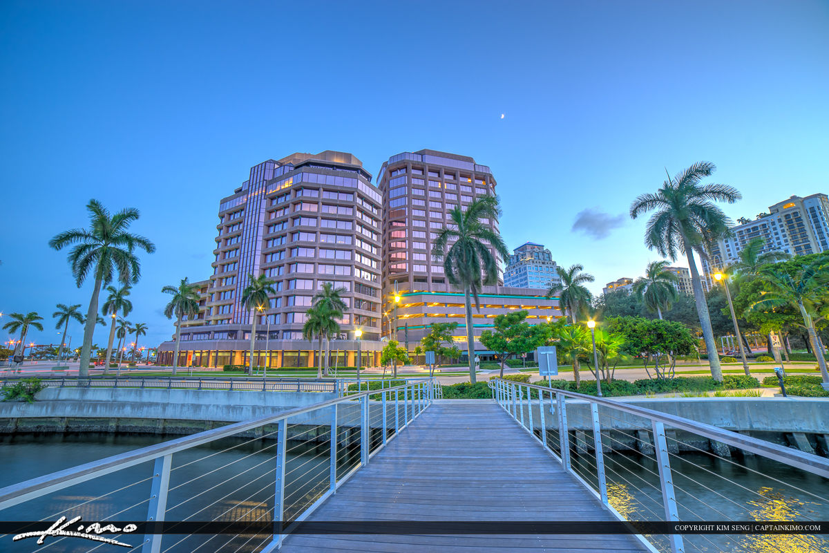 West Palm Beach Skyline Phillips Point Building Real Estate