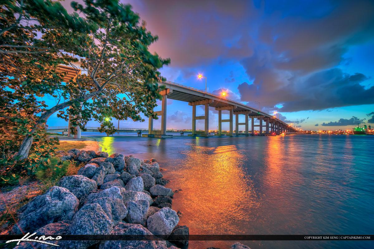 Fort Pierce Sunset South Causeway Bridge