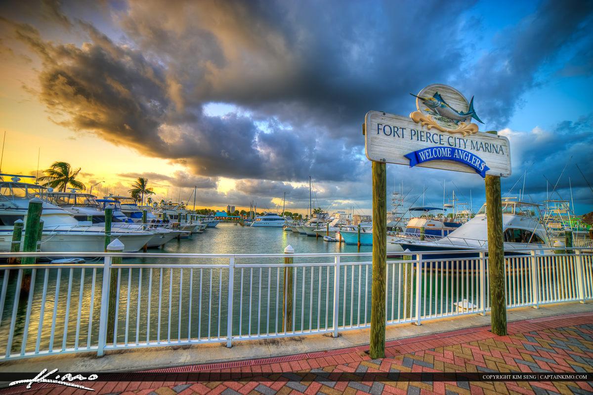 Fort Pierce Sunset at the City Marina