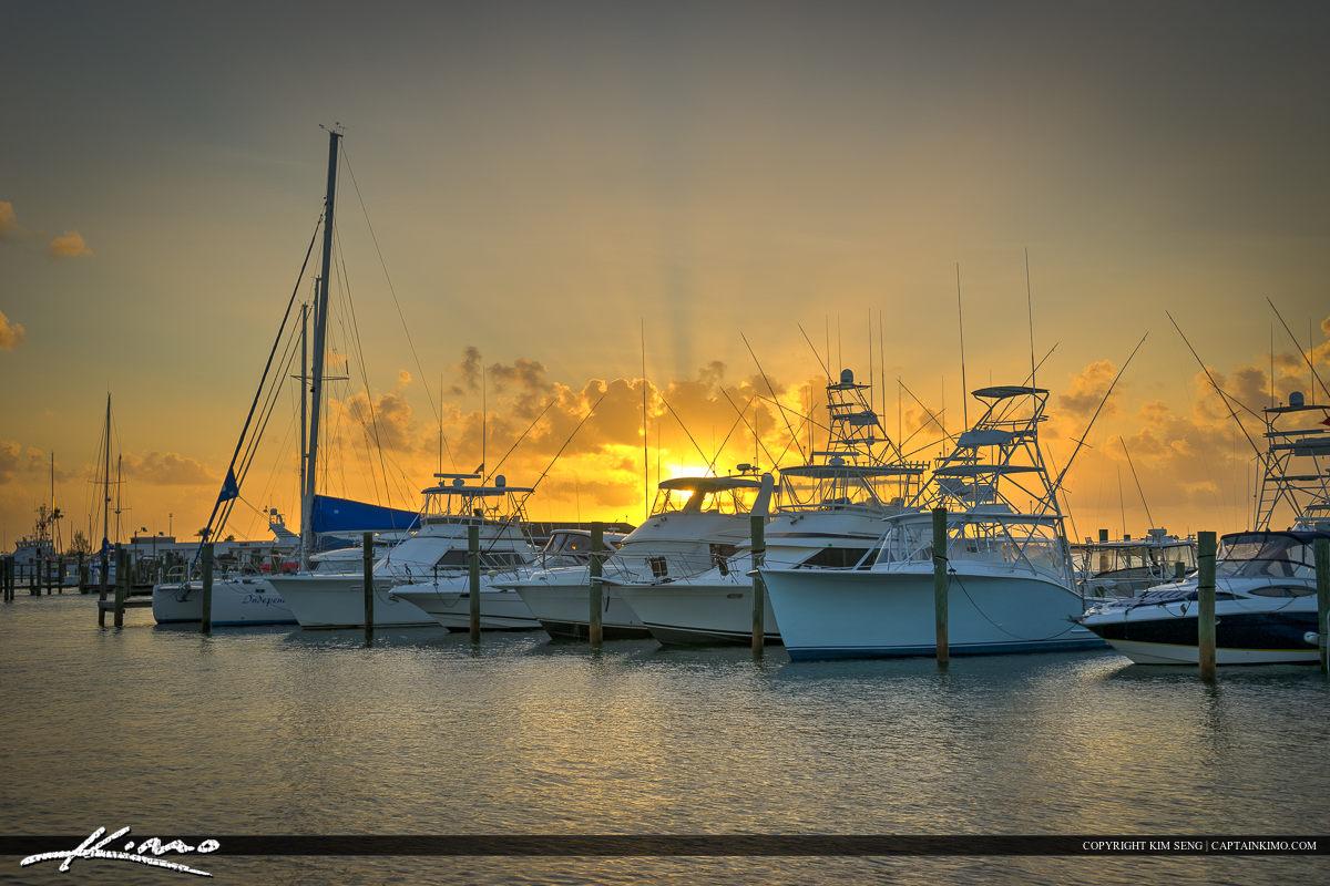 Fort Pierce Sunset at the Marina