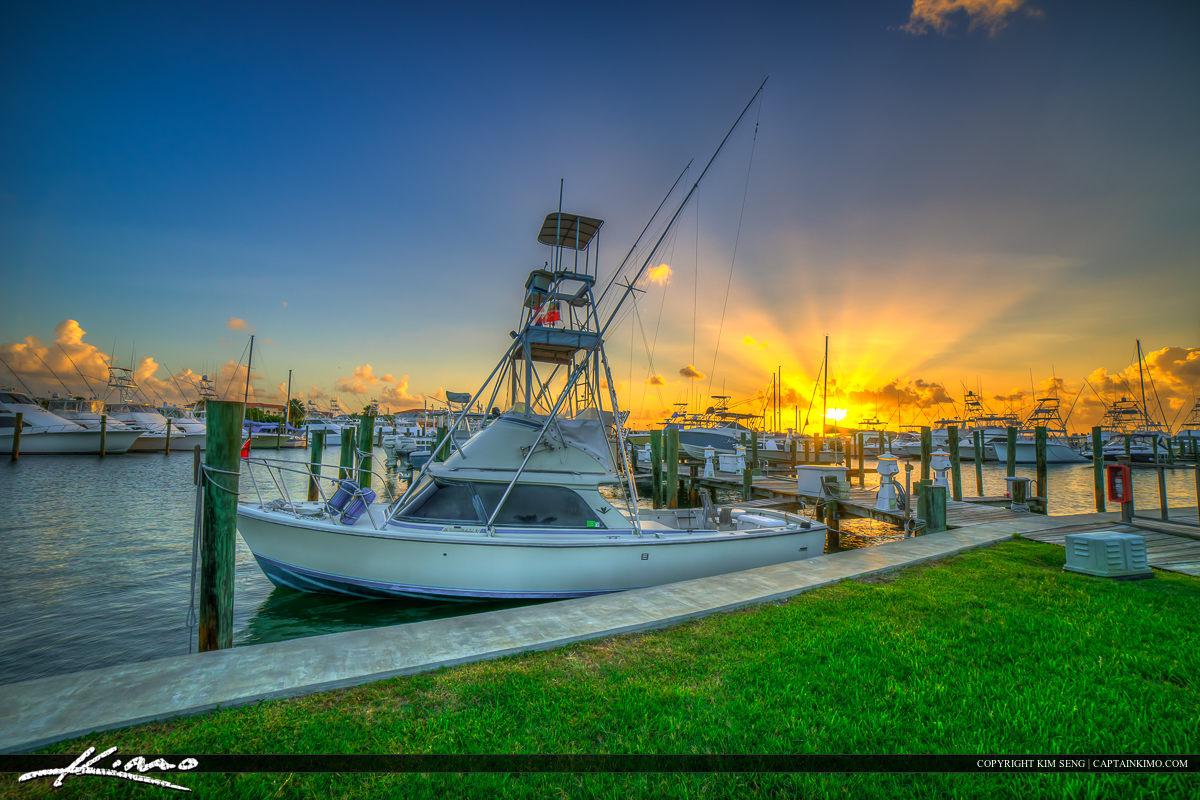 Fort Pierce Marina Sunset Fishing Boat