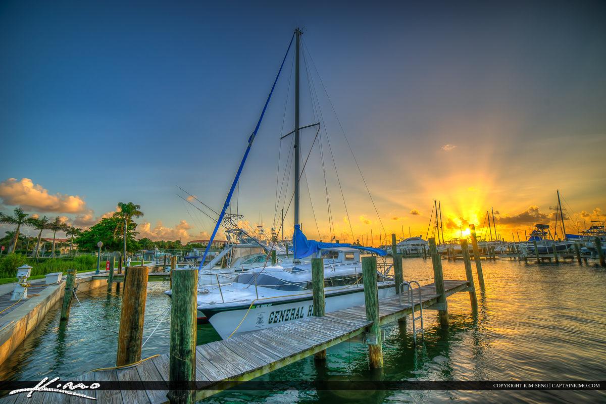 Fort Pierce Marina Sunset Sailboat