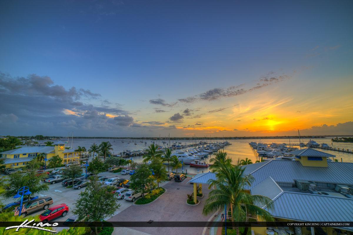 Stuart Florida Sunset at the Marina