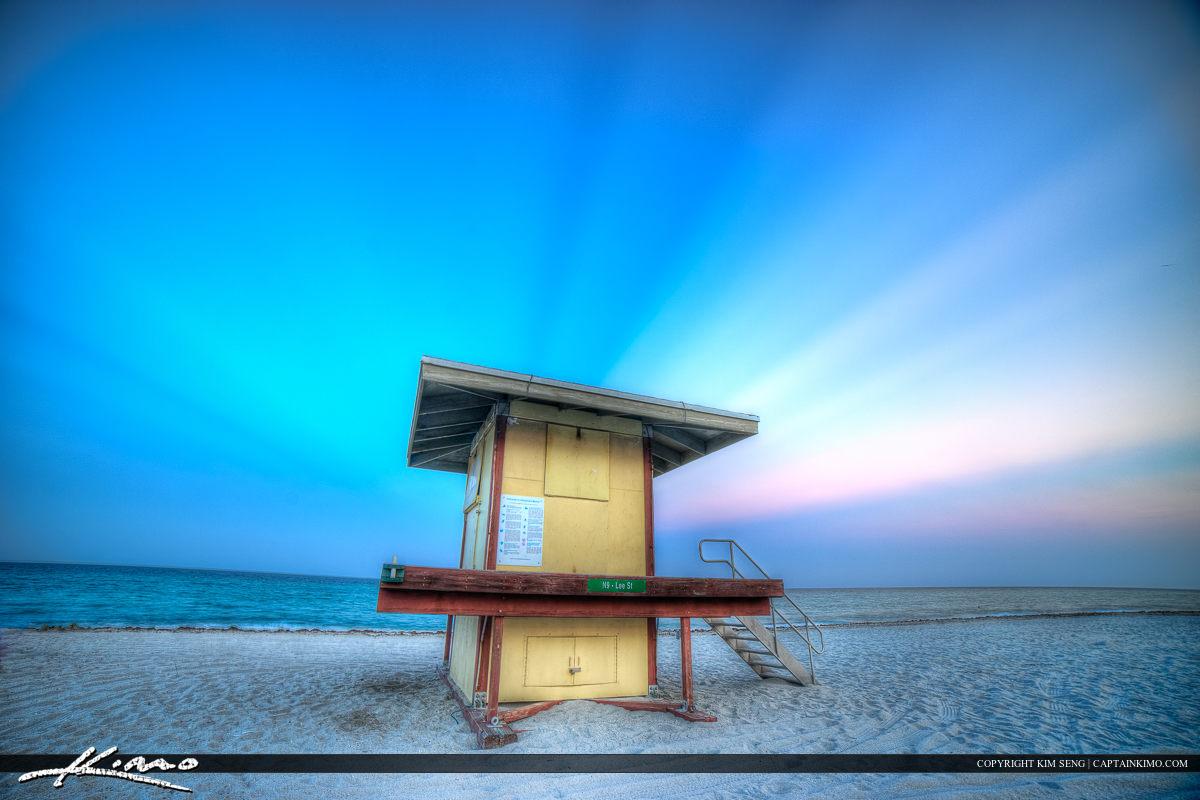 Hollywood Florida Lifeguard Tower at Beach