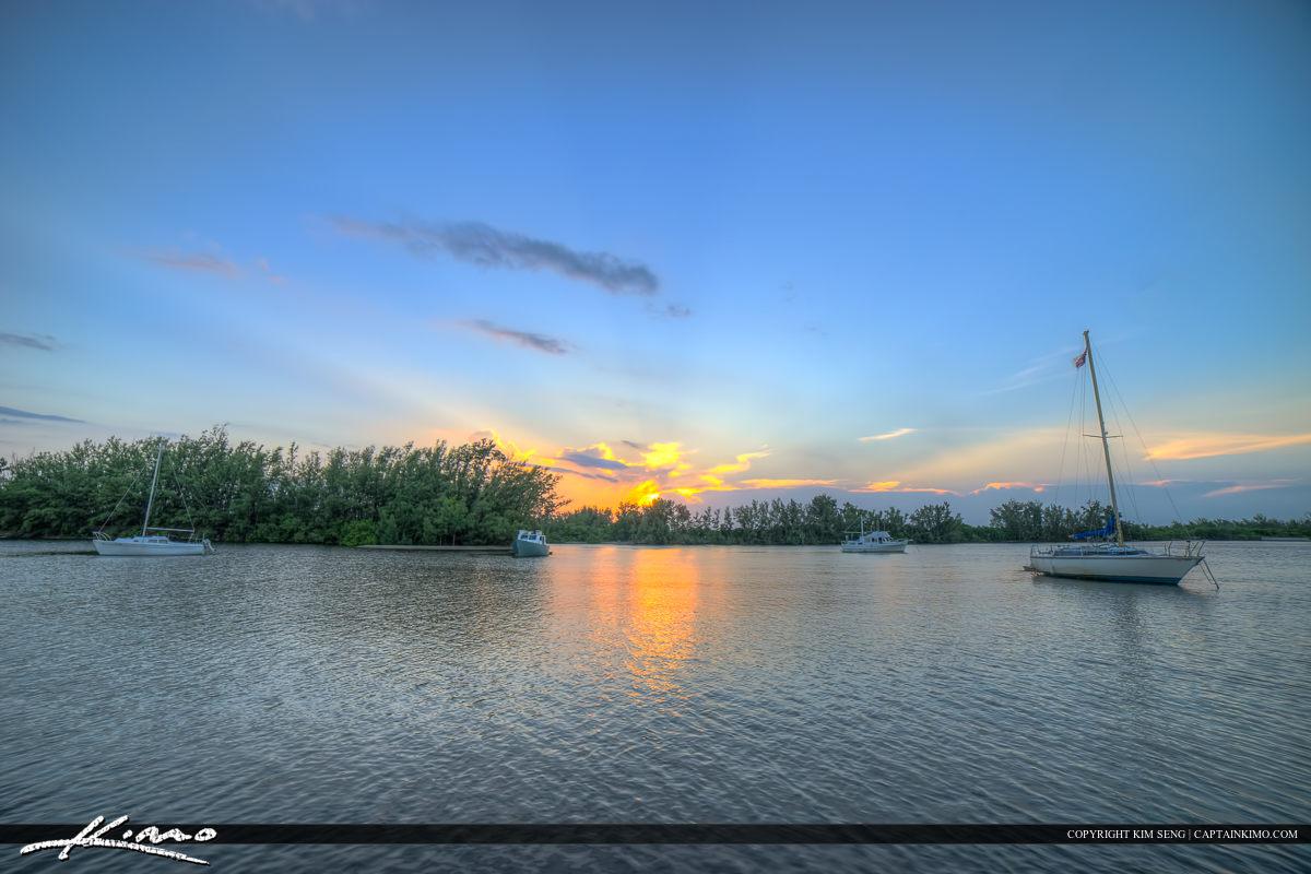 Hollywood Florida Sailboats at Waterway