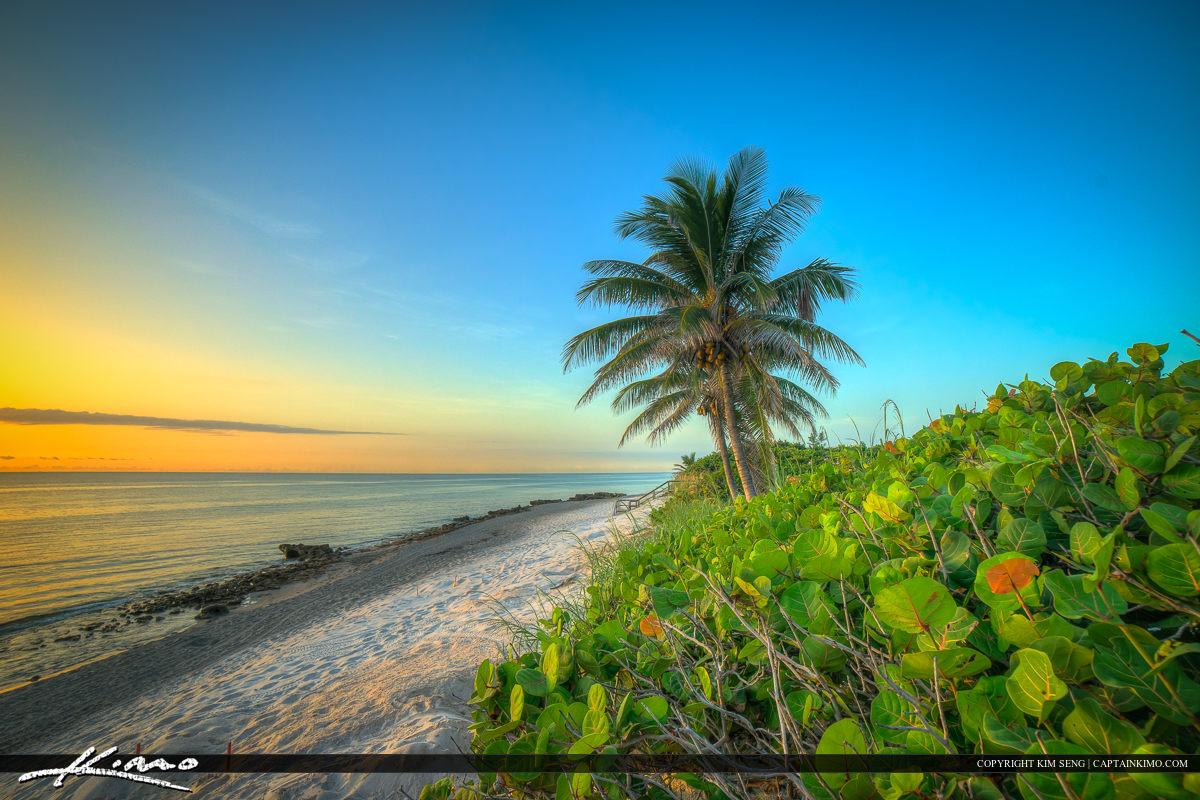 Florida Beach Sunrise Beach Park Jupiter Island