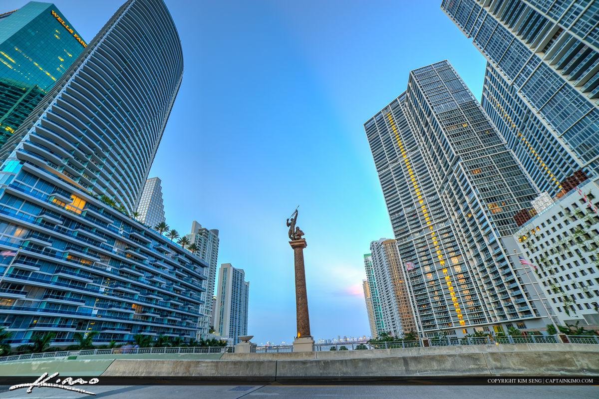 Miami City Downtown on the Bridge