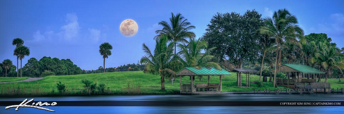 Okeeheelee Park Super Moon Rising West Palm Beach