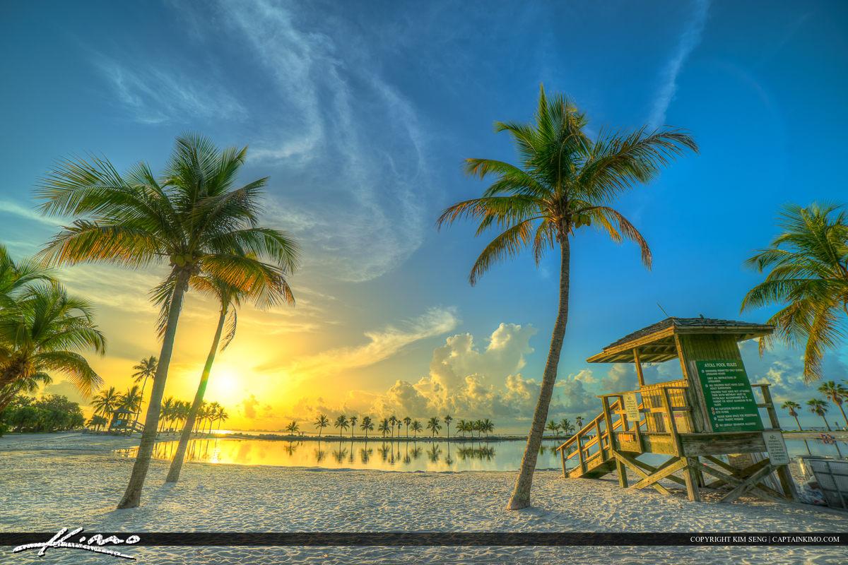 Coral Gables Matheson Park Sunrise at the Beach