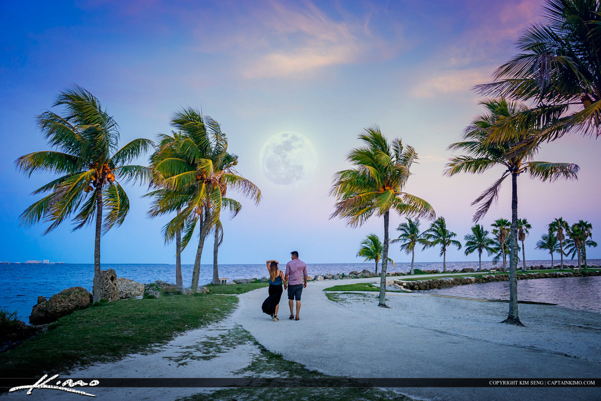 Matheson Hammock Park Moon Rise Biscayne Bay