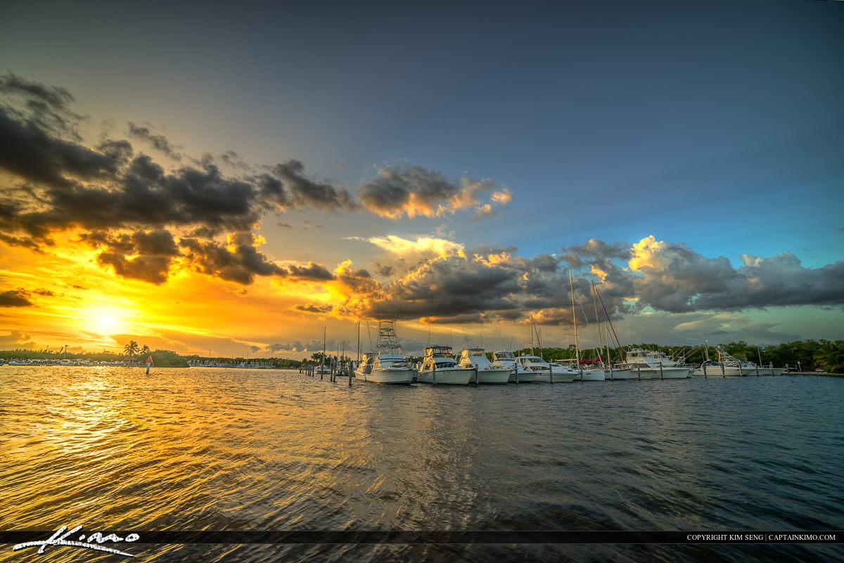 Coral Gables Florida Marina Dock at Matheson Park