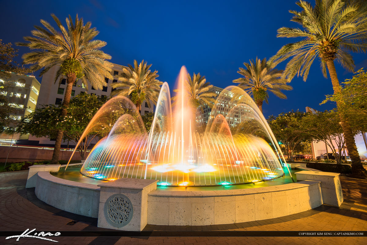 Fort Lauderdale New River Downtown Water Fountain