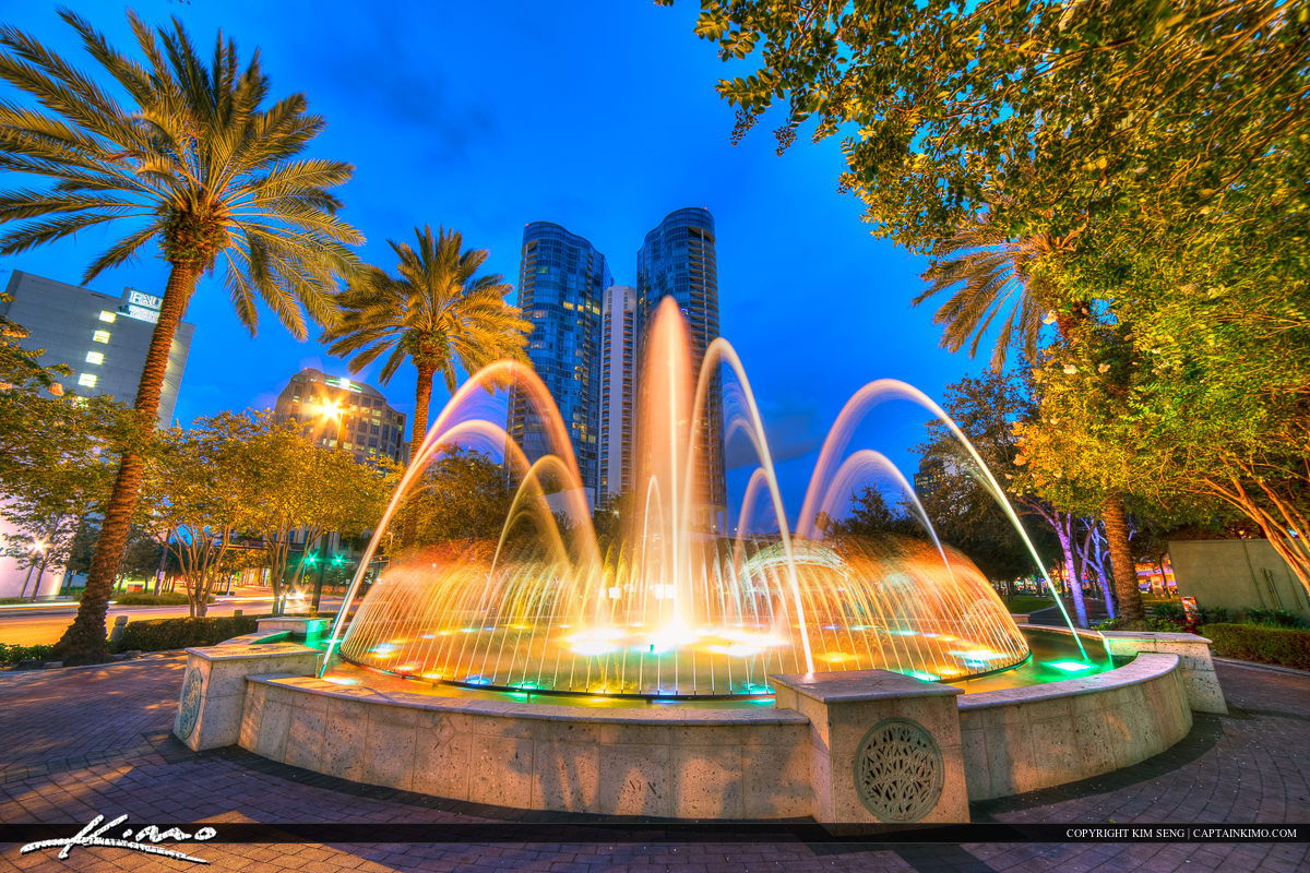 Fort Lauderdale New River Water Fountain