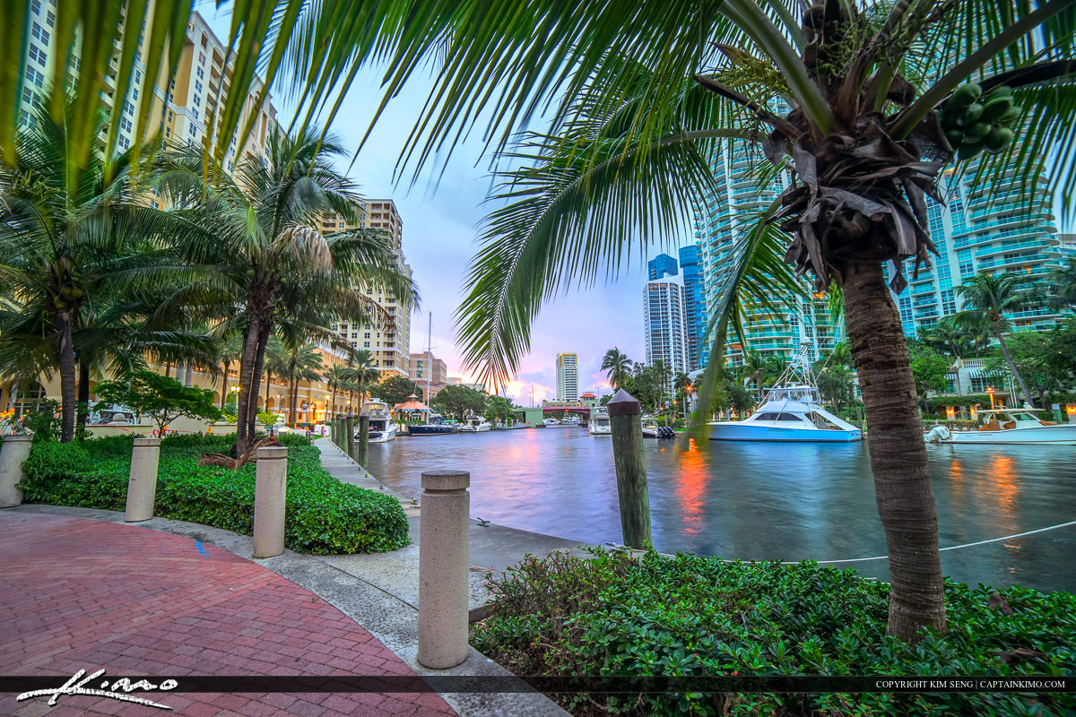 New River at the Fort Lauderdale Riverwalk Downtown Watrerway